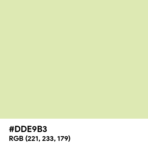 Pale Spring Bud (Hex code: DDE9B3) Thumbnail