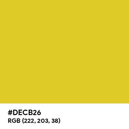 Saffron (Hex code: DECB26) Thumbnail