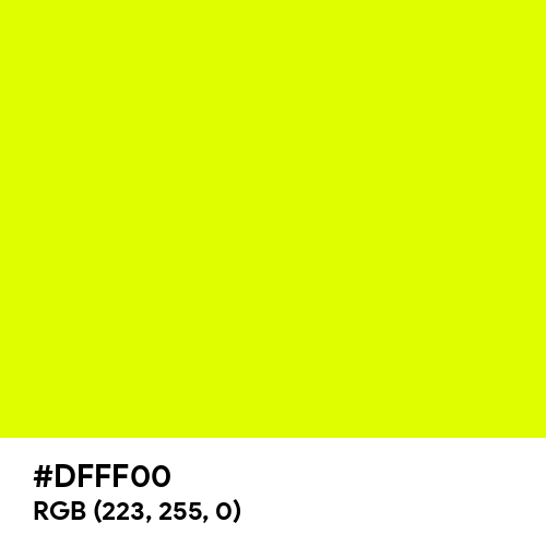 Chartreuse Yellow (Hex code: DFFF00) Thumbnail