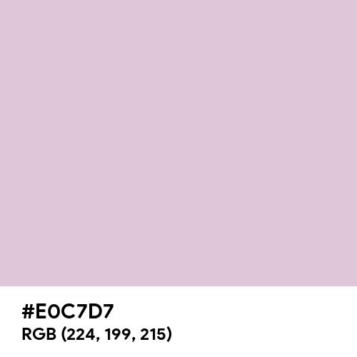 Lilac Snow (Hex code: E0C7D7) Thumbnail