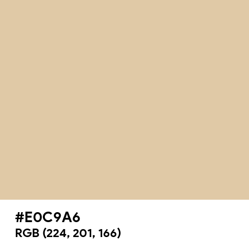 Old Paper (Hex code: E0C9A6) Thumbnail