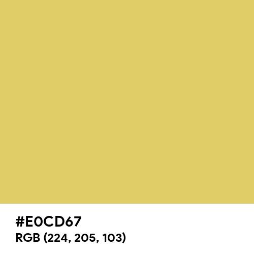 Soft Gold (Hex code: E0CD67) Thumbnail