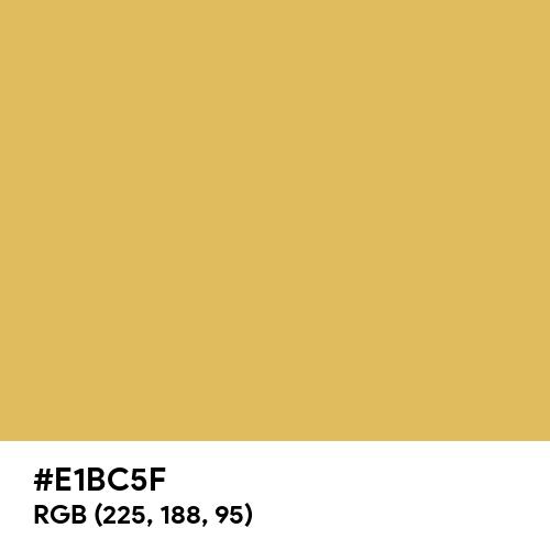 Golden Fleece (Hex code: E1BC5F) Thumbnail