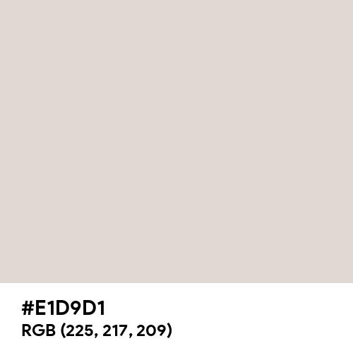Dark White (Hex code: E1D9D1) Thumbnail
