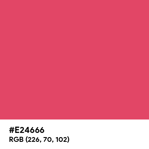 Rouge Red (Hex code: E24666) Thumbnail