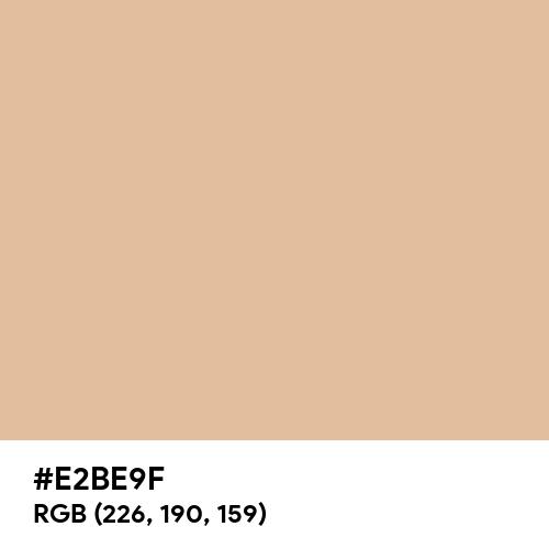 鳥の子色 (Torinoko-iro) (Hex code: E2BE9F) Thumbnail