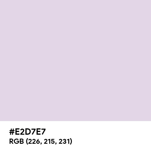 Gainsboro (Hex code: E2D7E7) Thumbnail