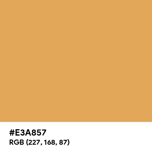 Sunray (Hex code: E3A857) Thumbnail