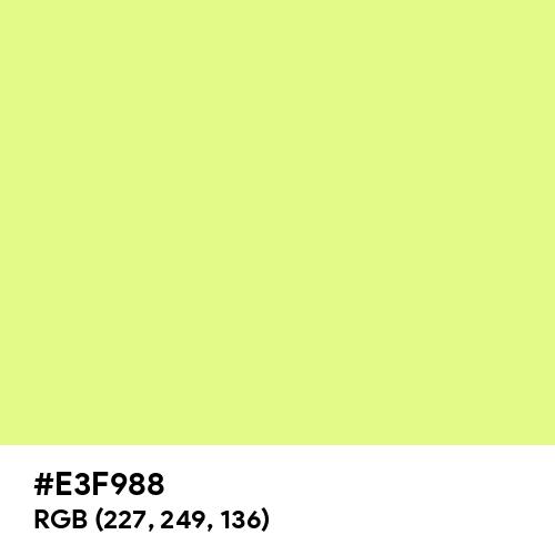 Mindaro (Hex code: E3F988) Thumbnail