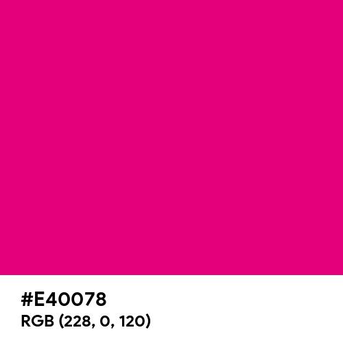 Red-Purple (Hex code: E40078) Thumbnail