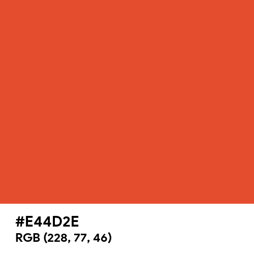 Cinnabar (Hex code: E44D2E) Thumbnail