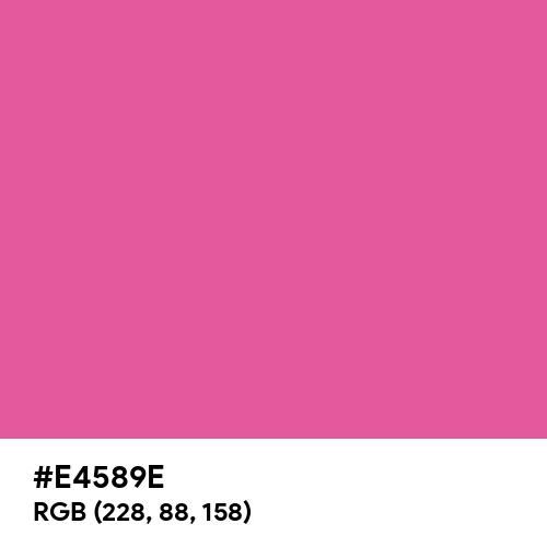 Matte Rose (Hex code: E4589E) Thumbnail