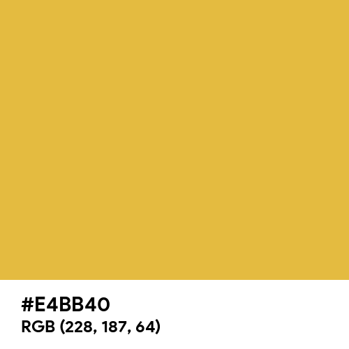 Original Gold (Hex code: E4BB40) Thumbnail