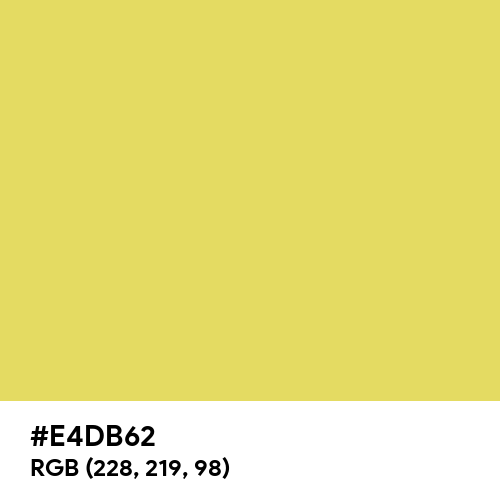 Light Gold Matte (Hex code: E4DB62) Thumbnail