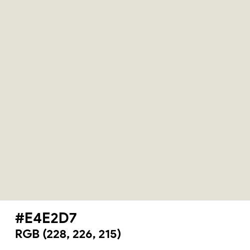 White Coffee (Hex code: E4E2D7) Thumbnail