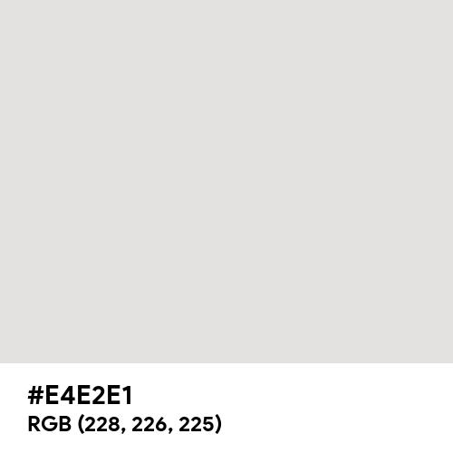 Platinum (Hex code: E4E2E1) Thumbnail