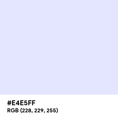 Lavender (Web) (Hex code: E4E5FF) Thumbnail