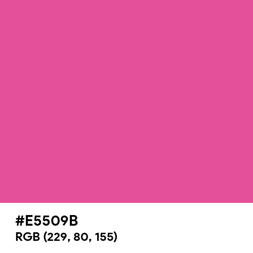 Dark Hot Pink (Hex code: E5509B) Thumbnail