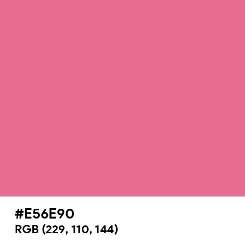 Pastel Cherry (Hex code: E56E90) Thumbnail
