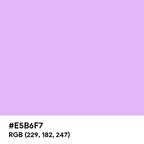 Soft Lilac (Hex code: E5B6F7) Thumbnail