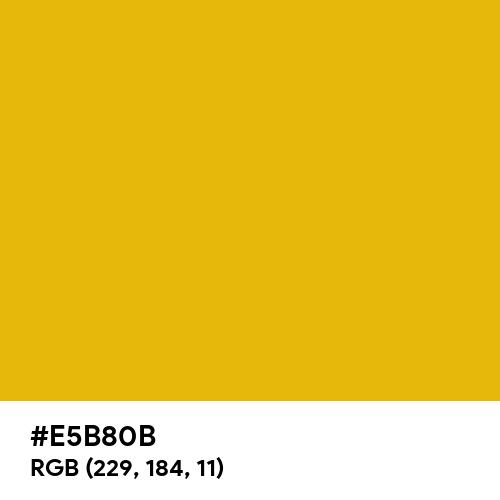 Pure Gold (Hex code: E5B80B) Thumbnail