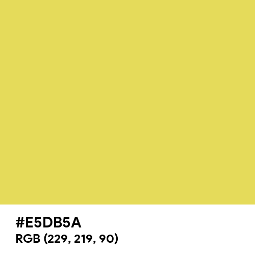 Arylide Yellow (Hex code: E5DB5A) Thumbnail