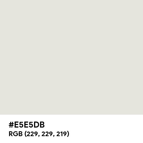 Vintage White (Hex code: E5E5DB) Thumbnail