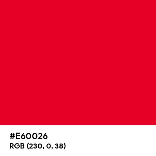 Spanish Red (Hex code: E60026) Thumbnail