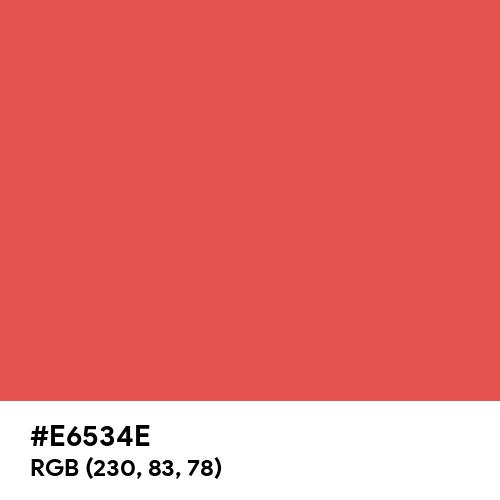 Warm Red (Hex code: E6534E) Thumbnail