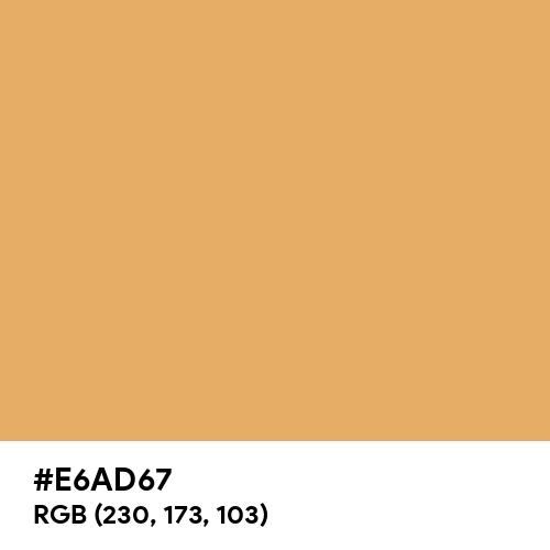 Dark Topaz (Hex code: E6AD67) Thumbnail
