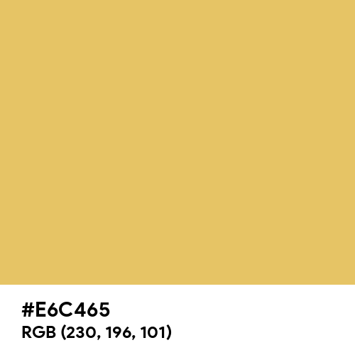 Arylide Yellow (Hex code: E6C465) Thumbnail