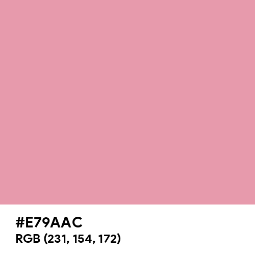 Pastel Blush (Hex code: E79AAC) Thumbnail
