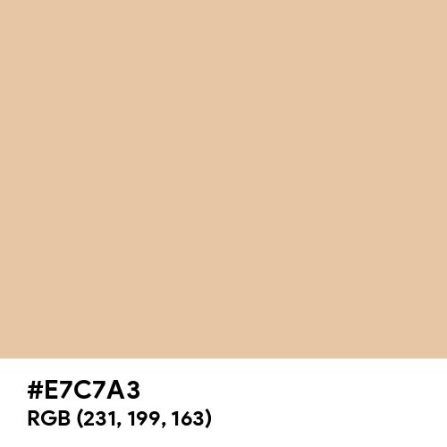 Matte Peach (Hex code: E7C7A3) Thumbnail