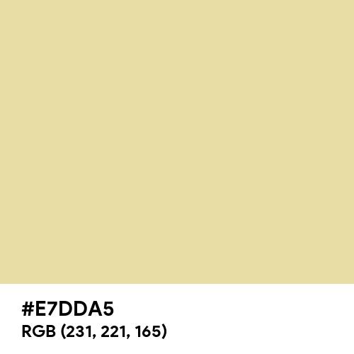 Frosty Gold (Hex code: E7DDA5) Thumbnail