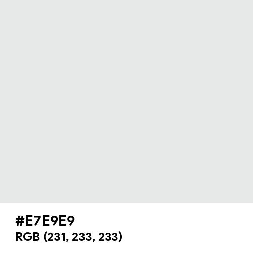 Bright Gray (Hex code: E7E9E9) Thumbnail