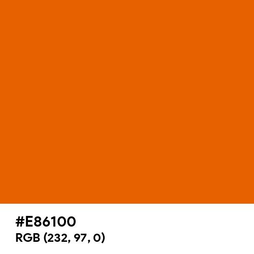 Spanish Orange (Hex code: E86100) Thumbnail
