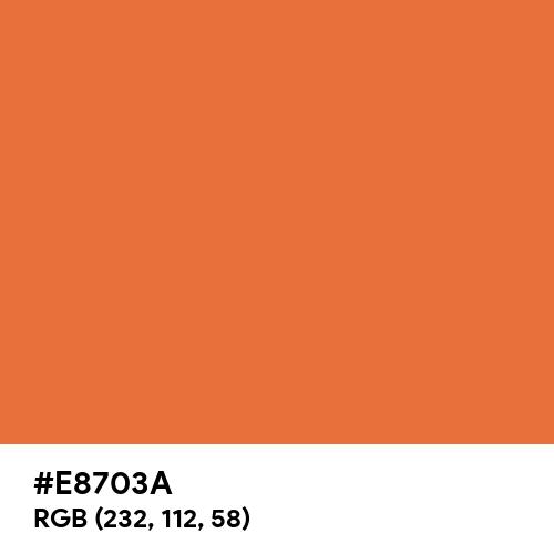 Celosia Orange (Hex code: E8703A) Thumbnail