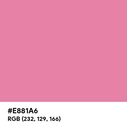 Aurora Pink (Hex code: E881A6) Thumbnail