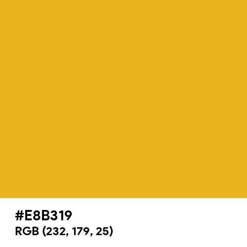 Sunset Gold (Hex code: E8B319) Thumbnail