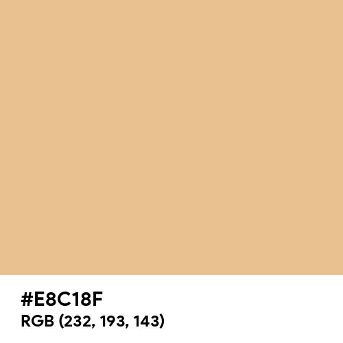 Deep Peach (Hex code: E8C18F) Thumbnail