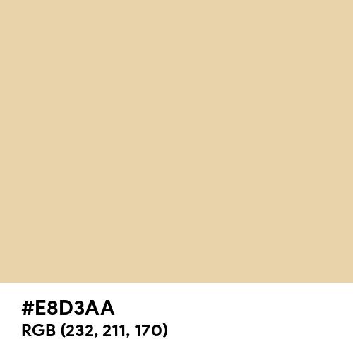 Crepe (Hex code: E8D3AA) Thumbnail