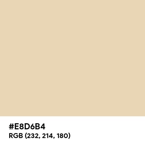 Parmesan (Hex code: E8D6B4) Thumbnail