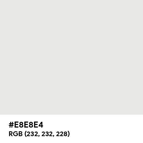 Oxford White (Hex code: E8E8E4) Thumbnail