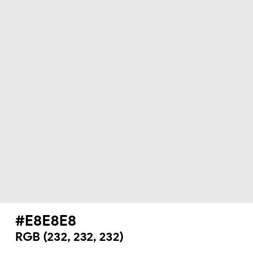 Platinum (Hex code: E8E8E8) Thumbnail