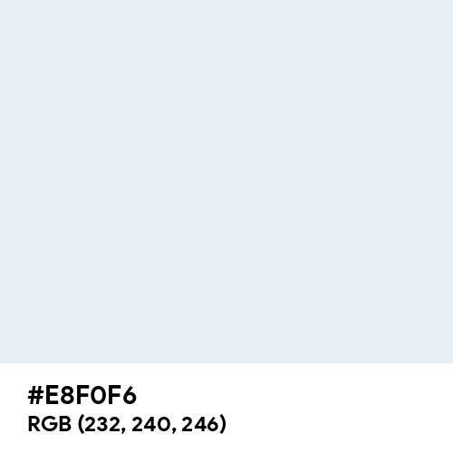 Bright Gray (Hex code: E8F0F6) Thumbnail