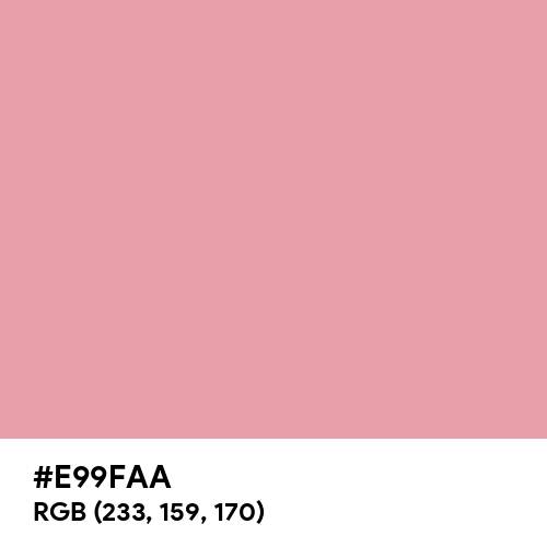 Pastel Rouge (Hex code: E99FAA) Thumbnail