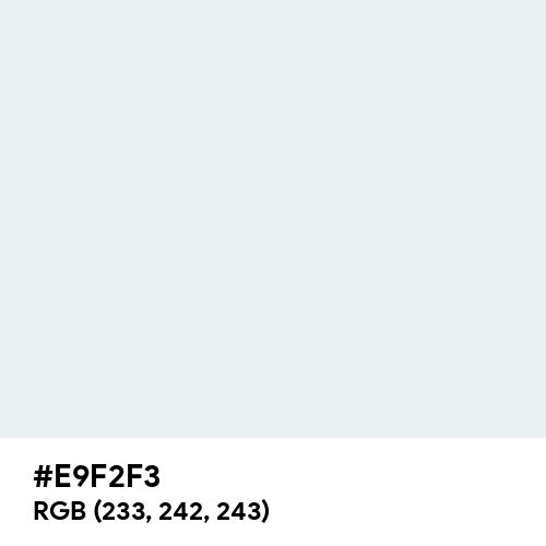 Bright Gray (Hex code: E9F2F3) Thumbnail