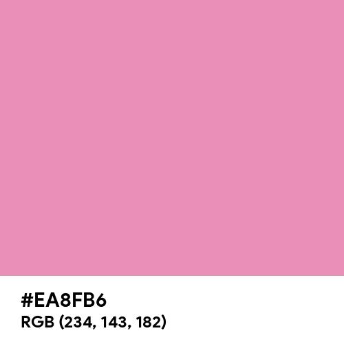 Rich Pink (Hex code: EA8FB6) Thumbnail
