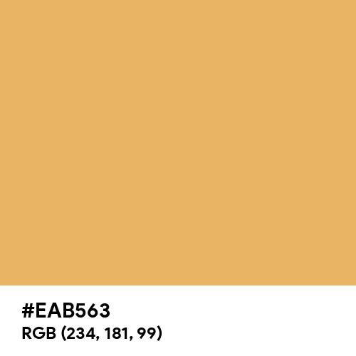 Rich Caramel (Hex code: EAB563) Thumbnail