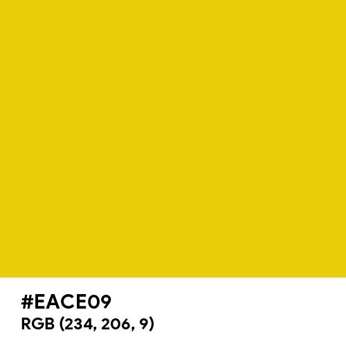 Deep Yellow (Hex code: EACE09) Thumbnail